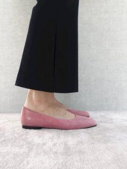Ballerine à talon 1 cm rose