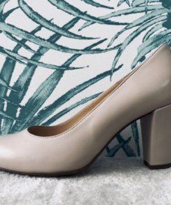 Escarpin à talon 8 cm avec semelle interne à coussin d'air. Confort.