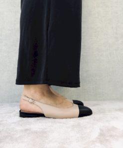 Ballerine ouverte façon sandale MAISON VIA ROMA.