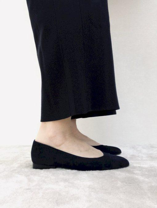 Ballerine à talon 1 cm noir
