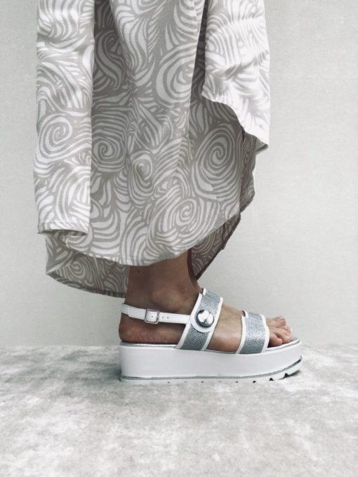 Sandales compensée MAISON VIA ROMA.