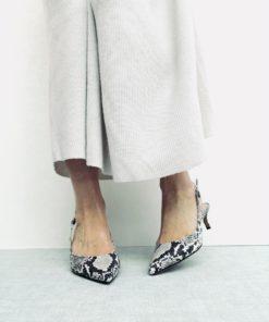 Sandales à talon fin 4 cm MAISON VIA ROMA.