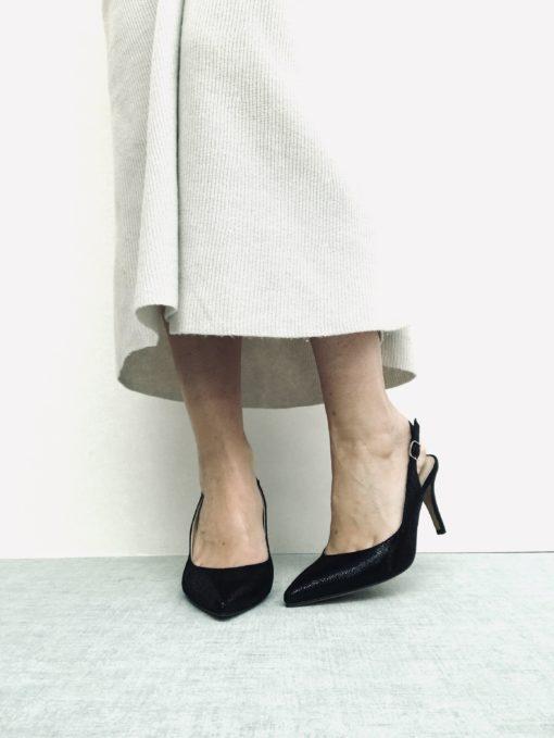 Sandales à talon fin 8 cm MAISON VIA ROMA.