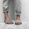 Nu-pieds en daim MAISON VIA ROMA.