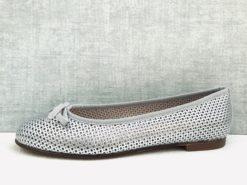 Ballerine perforée confortable à semelle en cuir MAISON VIA ROMA.
