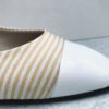 Ballerine XO BEST SELLER MAISON VIA ROMA en tissu rayé Saint Tropez. MADE IN ITALY.
