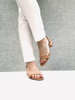 Sandales en cuir à talon MAISON VIA ROMA.