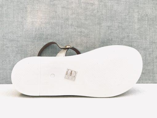 Nu-pieds compensés à bride réglable. MAISON VIA ROMA.