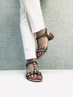 Sandales à talon 5 cm MAISON VIA ROMA.