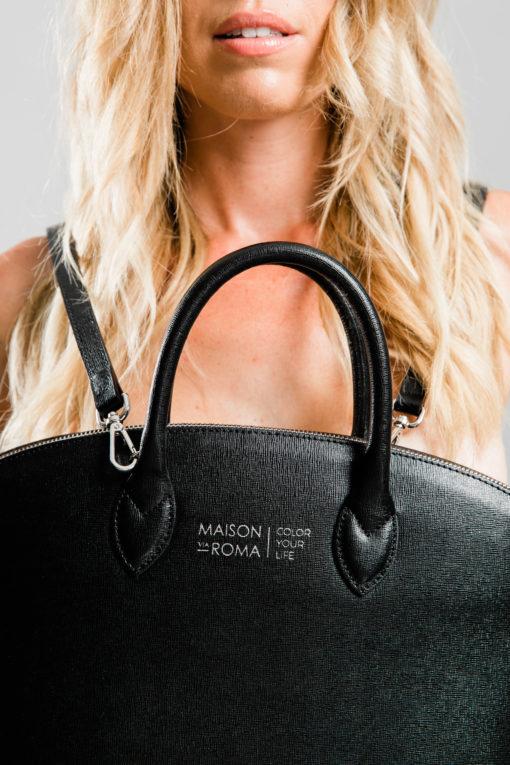 Sac à main en cuir MAISON VIA ROMA. Made in Italy.
