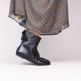 Bottines cavalières élégantes en cuir italien pour femme Maison Via Roma.