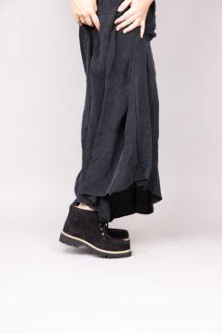 Chaussure à lacet noir et semelle compensée Maison Via Roma.