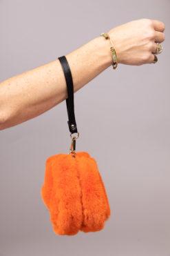 Mini sac en fausse fourrure Maison Via Roma
