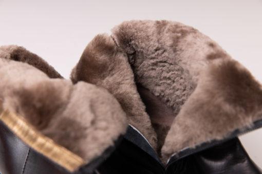 Bottines chaudes et élégantes pour la montagne avec fourrure Maison Via Roma.