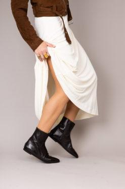 bottines cuir femme brun marron