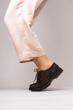 Chaussures à lacets élégantes pour femme. Derbies Maison Via Roma.