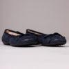 Ballerine en cuir sport pour femme semelle en gomme confortable Maison Via Roma