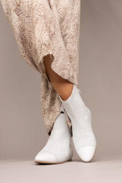 Bottine style ballerine blanc élégante pour femme Maison Via Roma