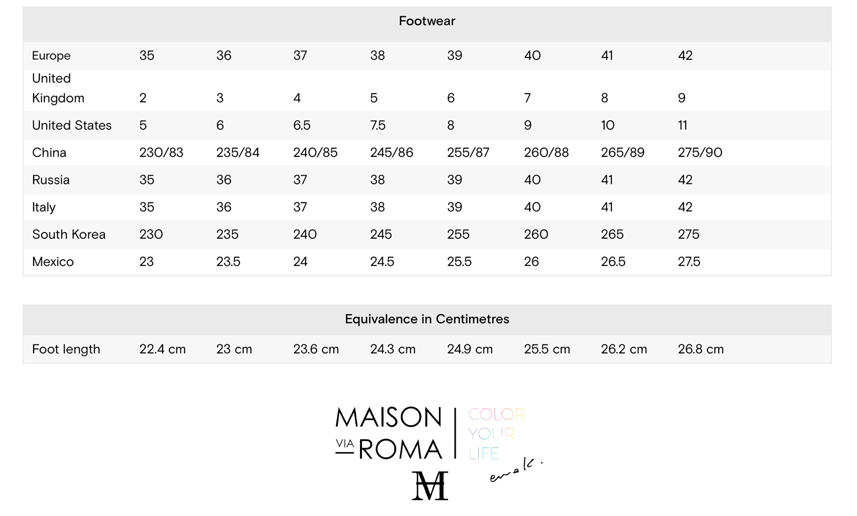 Women's Shoes Size Chart - Copy(1)